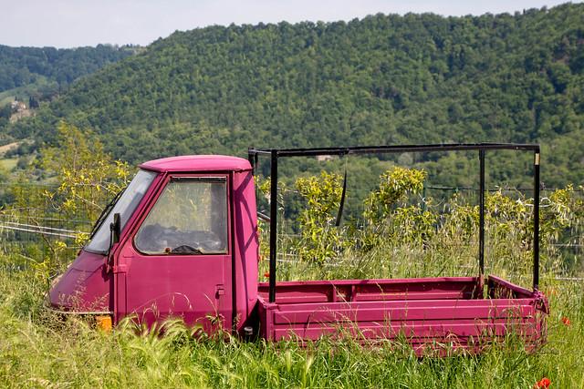 Small purple truck