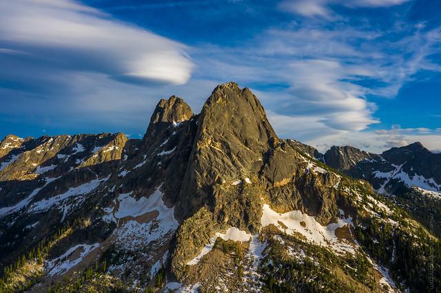 Liberty Bell Mountain and Lenticulars DJI Mavic Pro 2