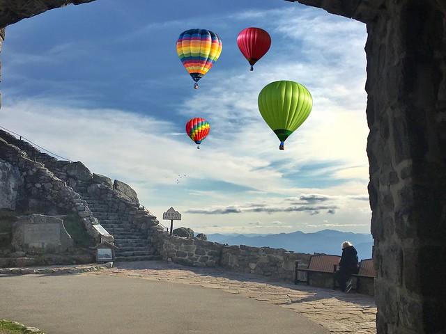 Adirondack Mountains - Whiteface Mountain - Lake Placid  -  New York - Hot Air Balloons