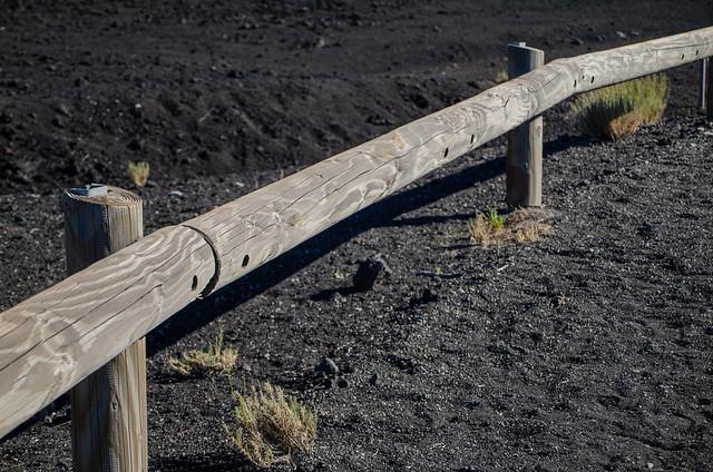 valla en el volcán