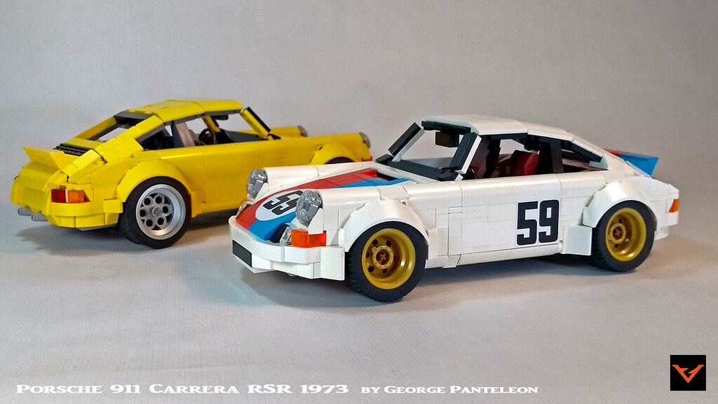 Porsche 911 Carrera RSR 1973 (custom built Lego model)