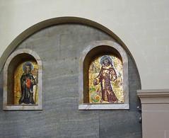 mosaico imagen de santos interior iglesia Santos Cosme y Damian Clervaux Luxemburgo 01