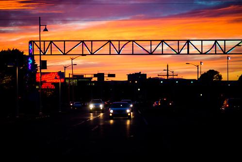 albuquerque america newmexico route66 usa unitedstates unitedstatesofamerica sunset fav10