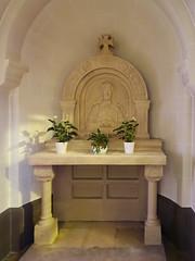 capilla relieve San Juan Bosco interior iglesia Santos Cosme y Damian Clervaux Luxemburgo