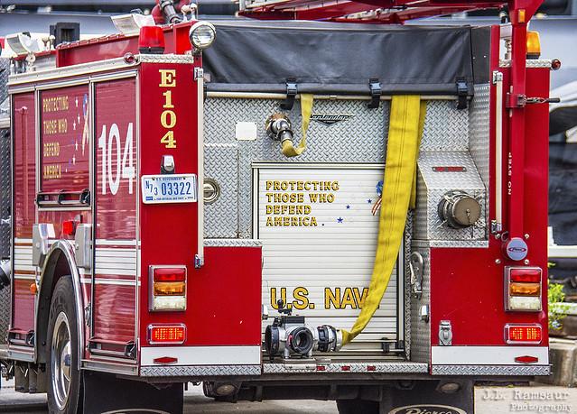 US Navy Fire Engine #104 - Joint Base Pearl Harbor–Hickam - Honolulu, Oahu, Hawaii