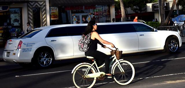 Bike vs. limo