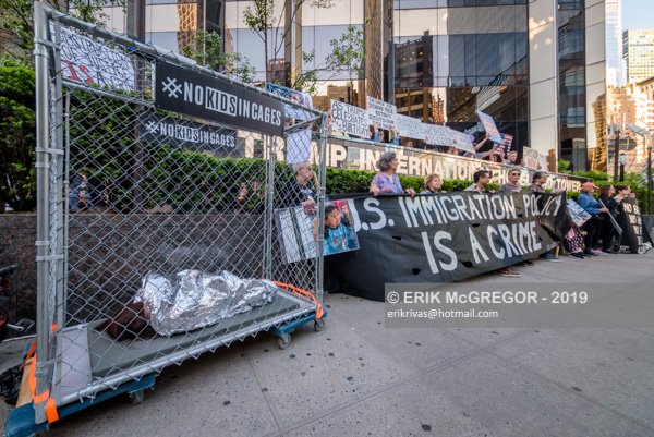 """Trump's Birthday """"No Kids In Cages""""  Protest"""