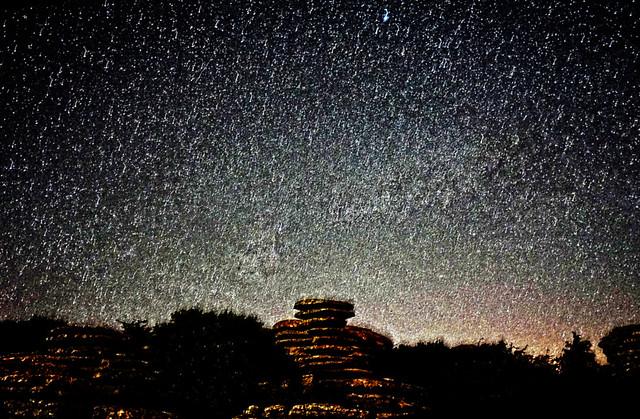 Stars (El Torcal, Antequera, Malaga, Andalucia, Spain)