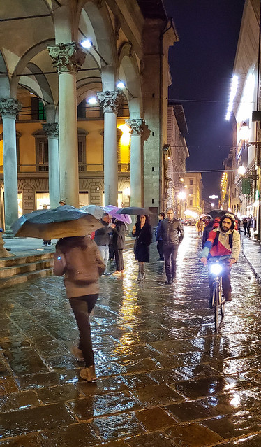 Rainy evening in Florence