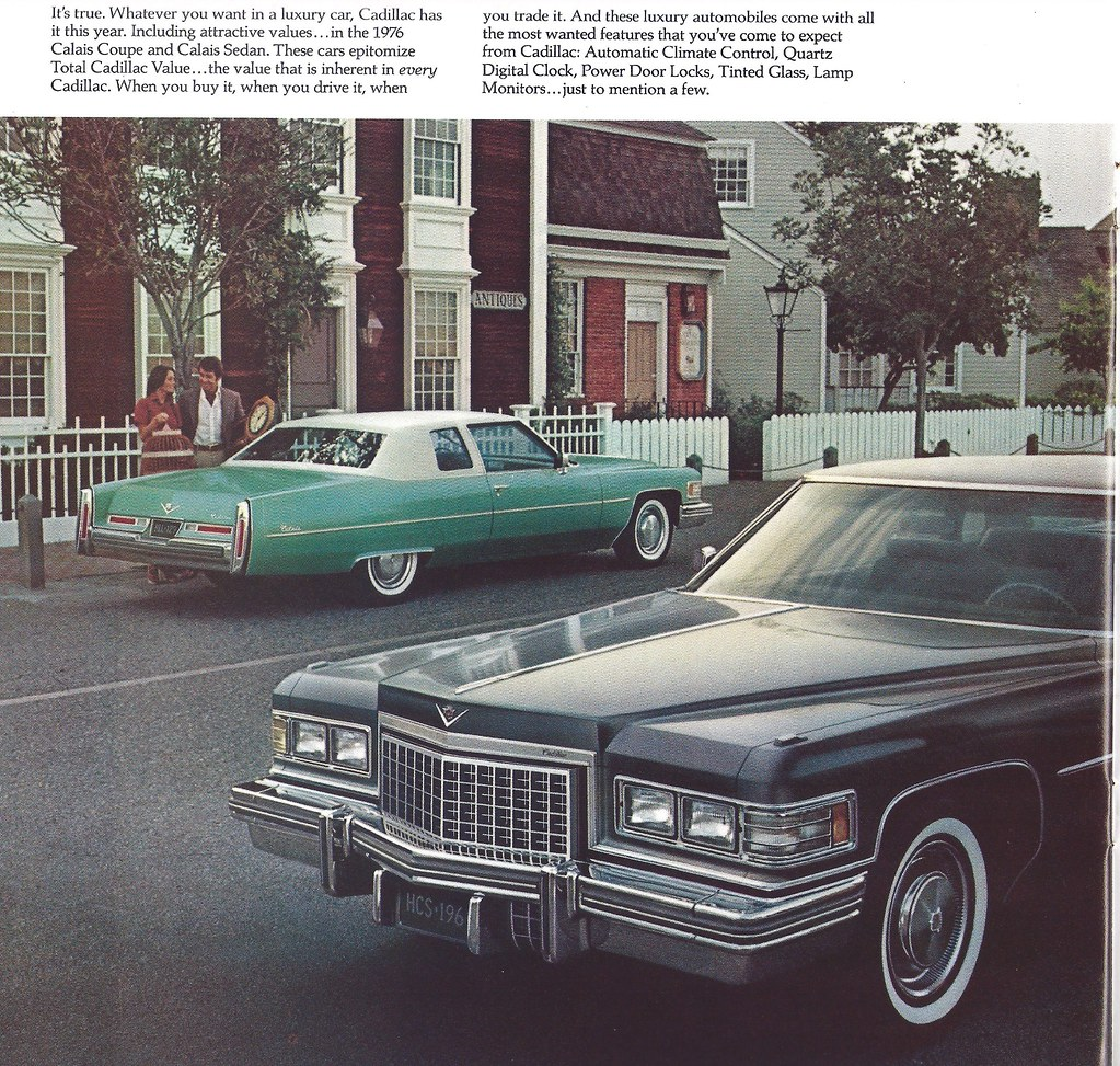 1976 Cadillac Calais | Page from a brochure showing all the … | Flickr