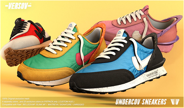 [ Versov // ] UNDERCOV SNEAKERS available at Kustom9