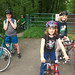riding with friends at sandy river delta park