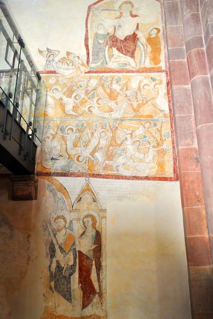 Juni 2019 ... Klosterkirche Lobenfeld ... Mittelalterliche Wandmalereien ... Foto: Brigitte Stolle