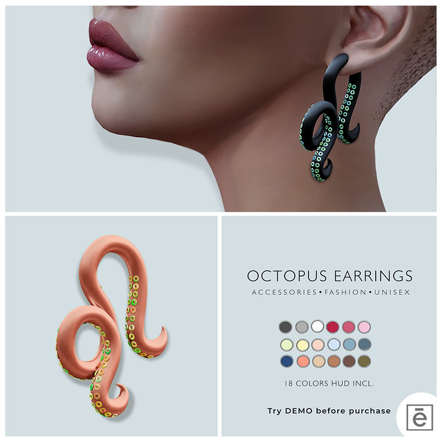 Ohemo - Octopus earrings for HT