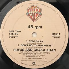 RUFUS AND CHAKA KHAN:AIN'T NOBODY(LABEL SIDE-B)