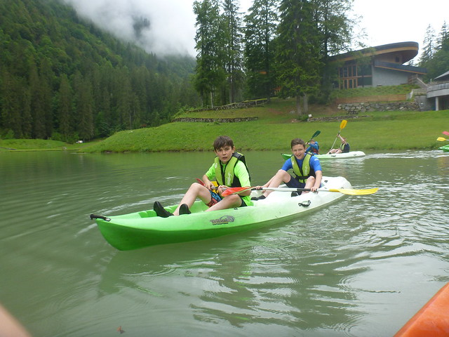 Kayaking on Lake Montriond