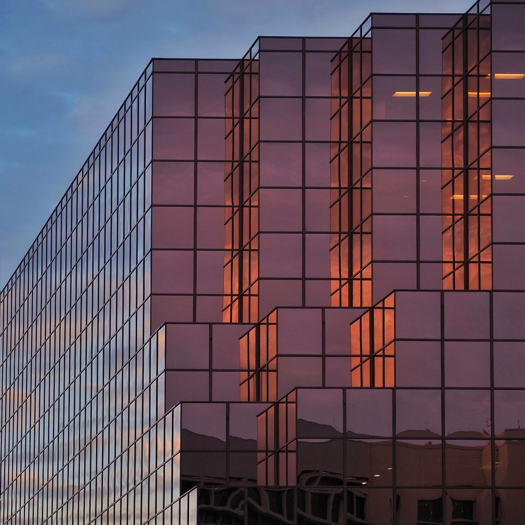 Cubist Architecture in the Morning