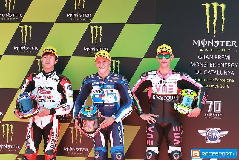 Top drie Moto3 kwalificatie