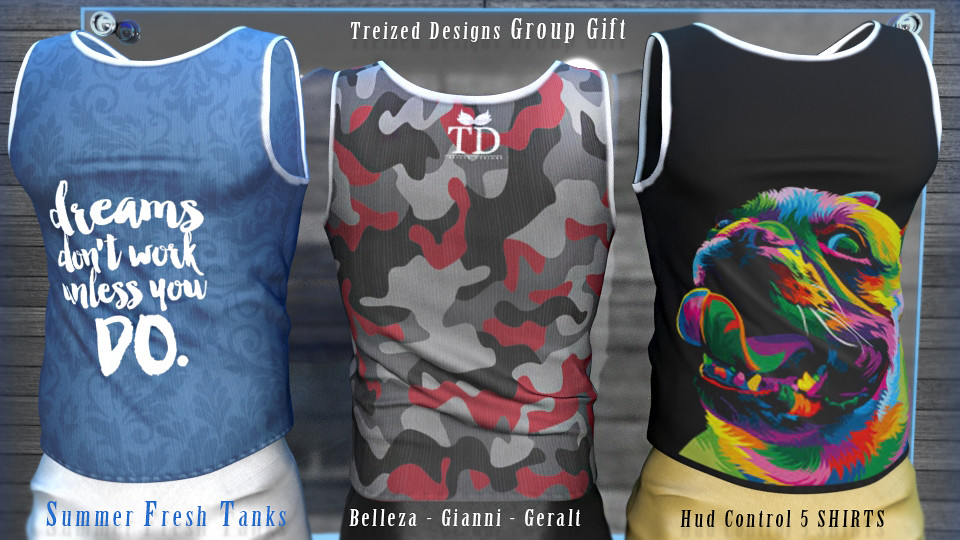 TD Summer Fresh Men Tanks Group Gift - TeleportHub.com Live!