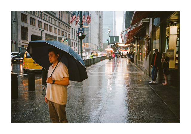 FILM - Outside Grand Central in the rain