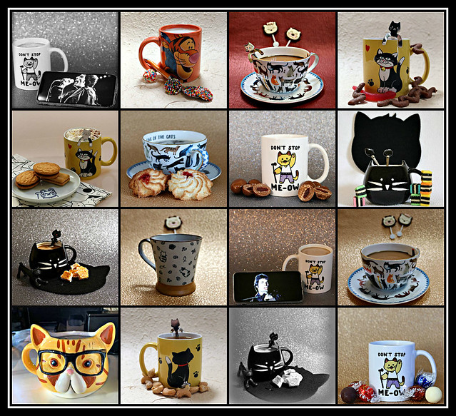 2019 Sydney collage: Cat Coffee Mugs