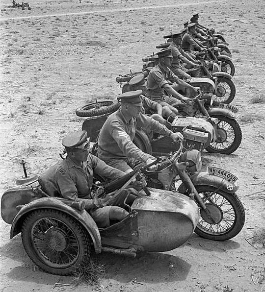 Captured German BMW R75