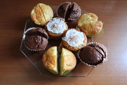 Muffins (halbierte Reste vom Vortag)