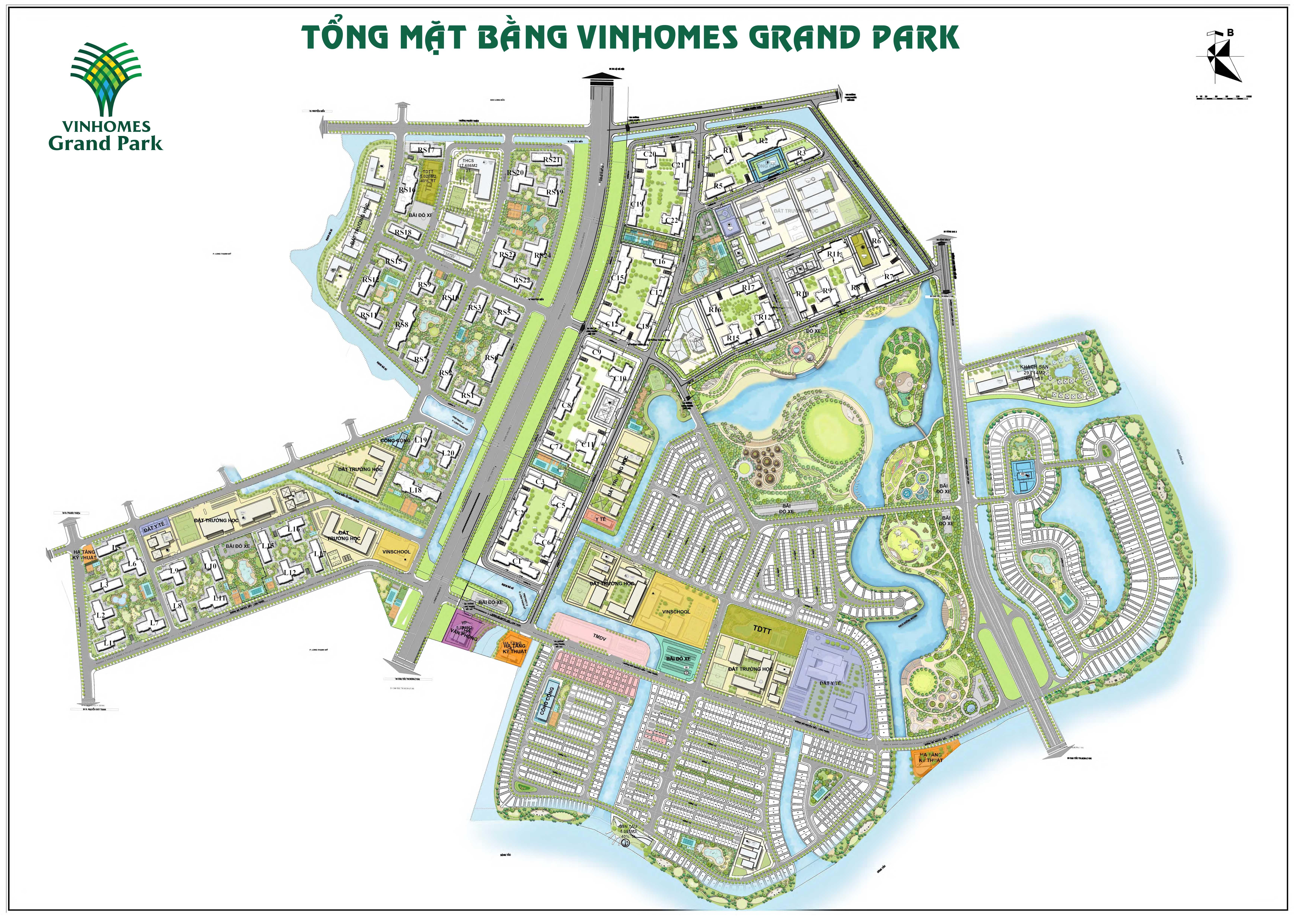 Tổng mặt bằng Vinhomes Grand Park