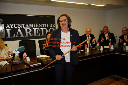 CHARO LOSA NOMBRADA ALCALDESA, LAREDO 15-6-2019