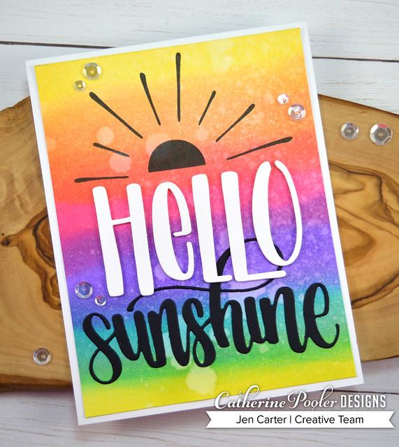 Hello Mini Cover Plate Scatter Sunshine Sunshine Word Rainbow Jen Carter