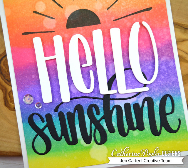 Hello Mini Cover Plate Scatter Sunshine Sunshine Word Rainbow Jen Carter Closeup