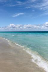 Light surf on the Atlantic coast, Cuba, Varadero