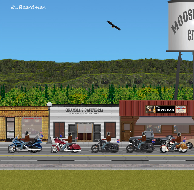 The Posse™ stopped for breakfast at Gramma's Café ©Jack Boardman