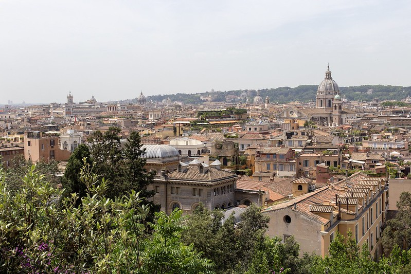 Blick von der Villa Medici.