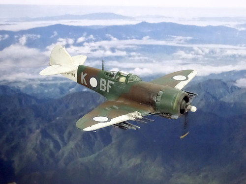 "1:72 Australian Department of Aircraft Production (DAP) ""Bunyip"" Mk. IIB, aircraft ""BF-K/A78-158"" of the Royal Australian Air Force (RAAF) No. 5 Squadron; Piva Airfield/Torokina on Bougainville (New Guinea), November 1944 (Whif/modified Eduard La-7 kit) 