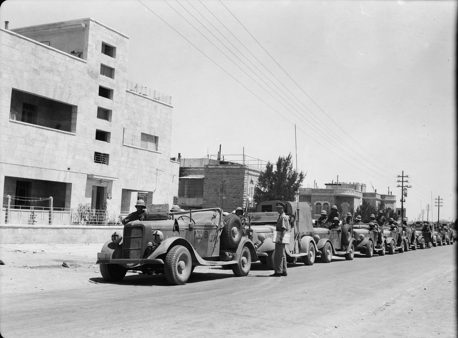 Автомобили военного департамента на Вифлеемской дороге