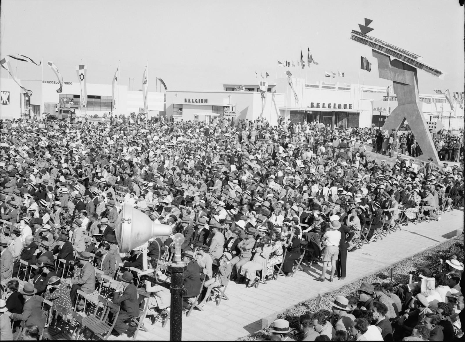 Тель-Авив.  100% еврейская толпа на церемонии открытия промышленной выставки