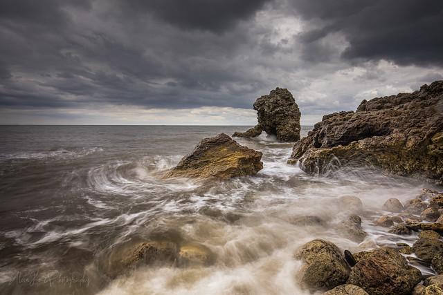 Shot Rock .Easington Colliery beach.
