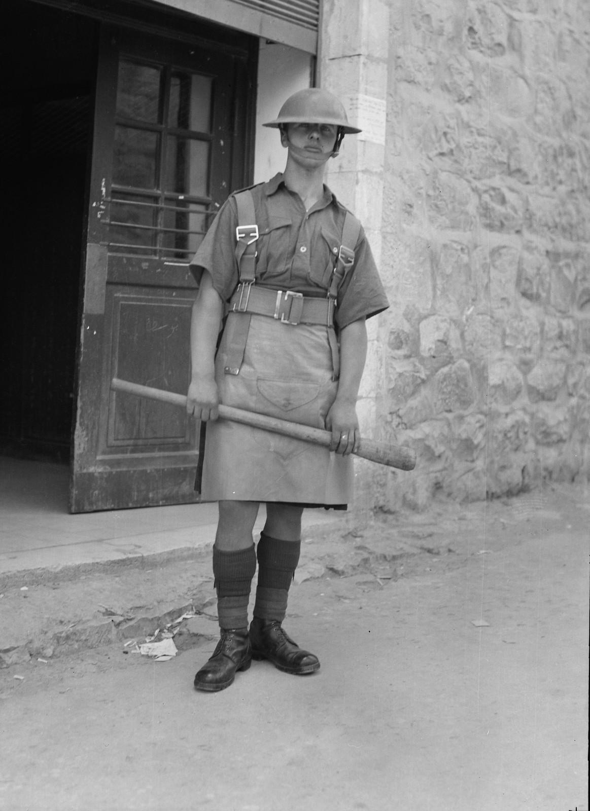 Иерусалим. Охранник почтового отделения
