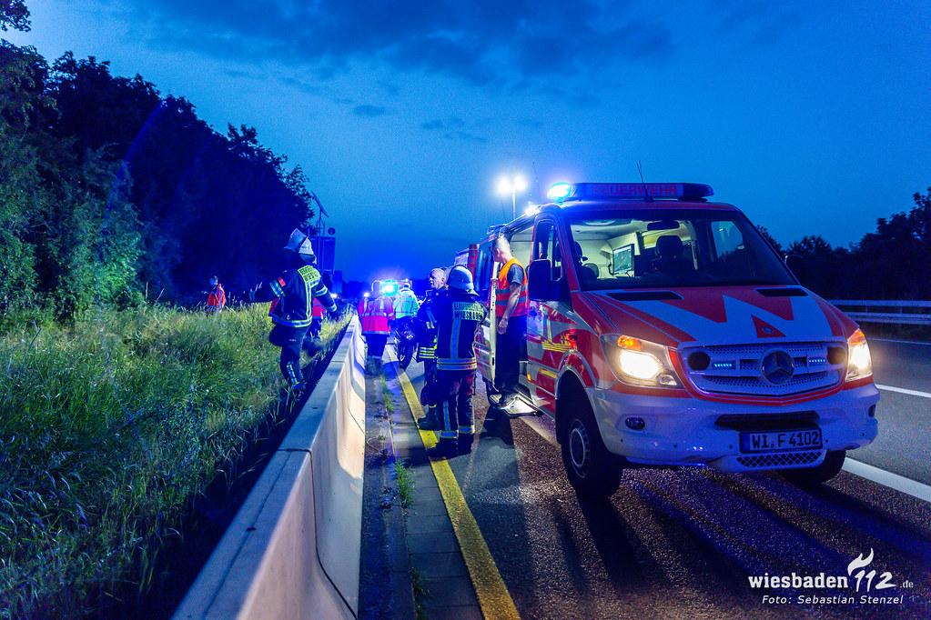 Tödlicher Motorradunfall A66 Erbenheim 15.06.19