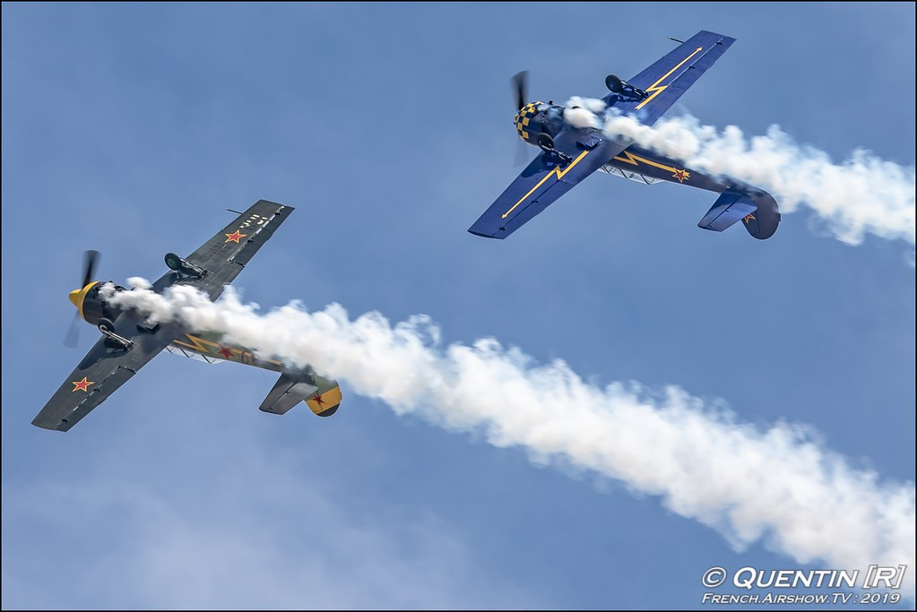 Yako Team - Patrouille Yakovlev Meeting de l'Air BA-115 Orange 2019 Canon Sigma France contemporary lens Meeting Aerien