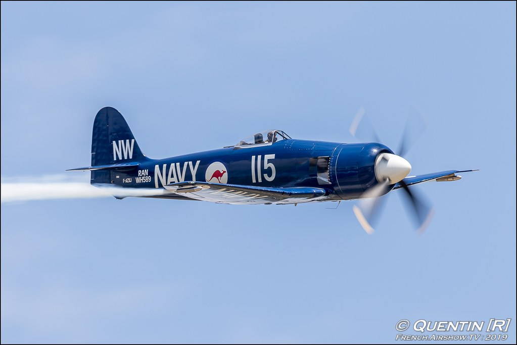 Hawker Sea Fury F-AZXJ Christophe Jacquard Meeting de l'Air BA-115 Orange 2019 Canon Sigma France contemporary lens Meeting Aerien