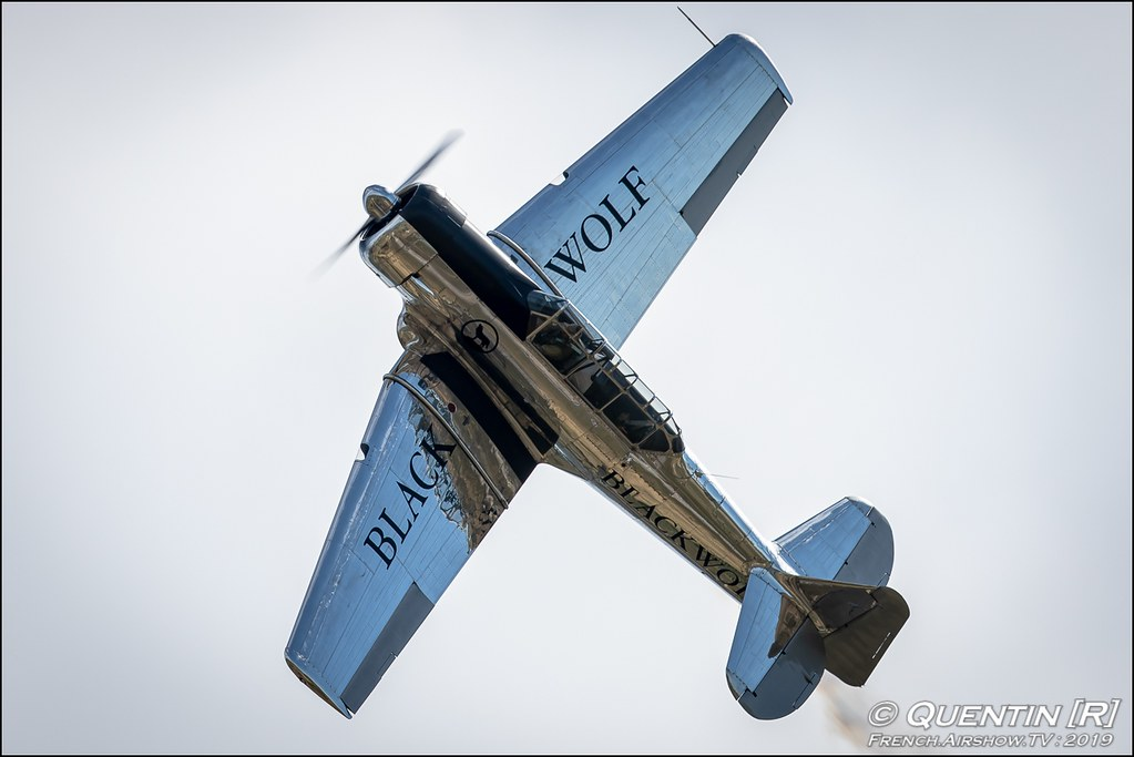 NA T-6G Black Wolf - F-AZCQ Meeting de l'Air BA-115 Orange 2019 Canon Sigma France contemporary lens Meeting Aerien