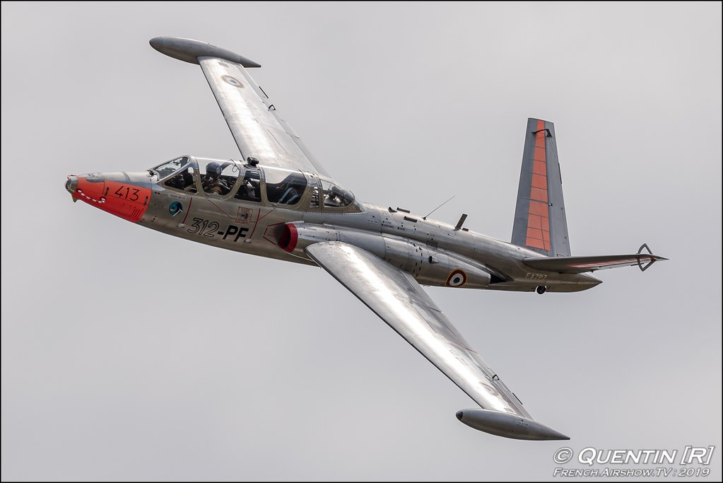 Fouga CM-170 Magister F-AZPZ Berger Jean-Baptiste Meeting de l'Air BA-115 Orange 2019 Canon Sigma France contemporary lens Meeting Aerien