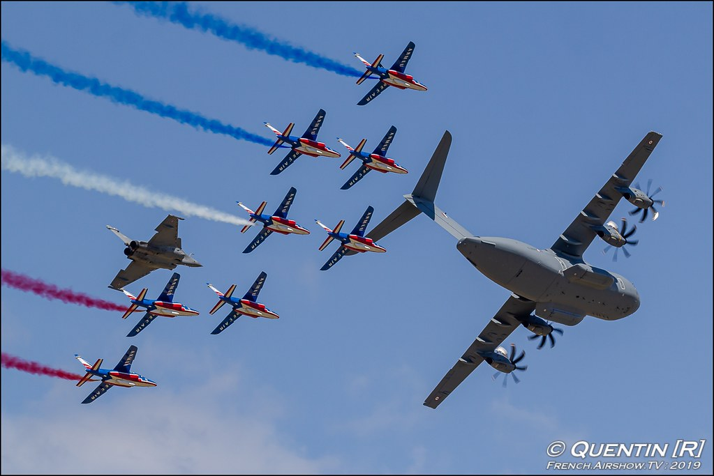 Rafale Solo Display & Patrouille de France & & A-400M Meeting de l'Air BA-115 Orange 2019 Canon Sigma France contemporary lens Meeting Aerien