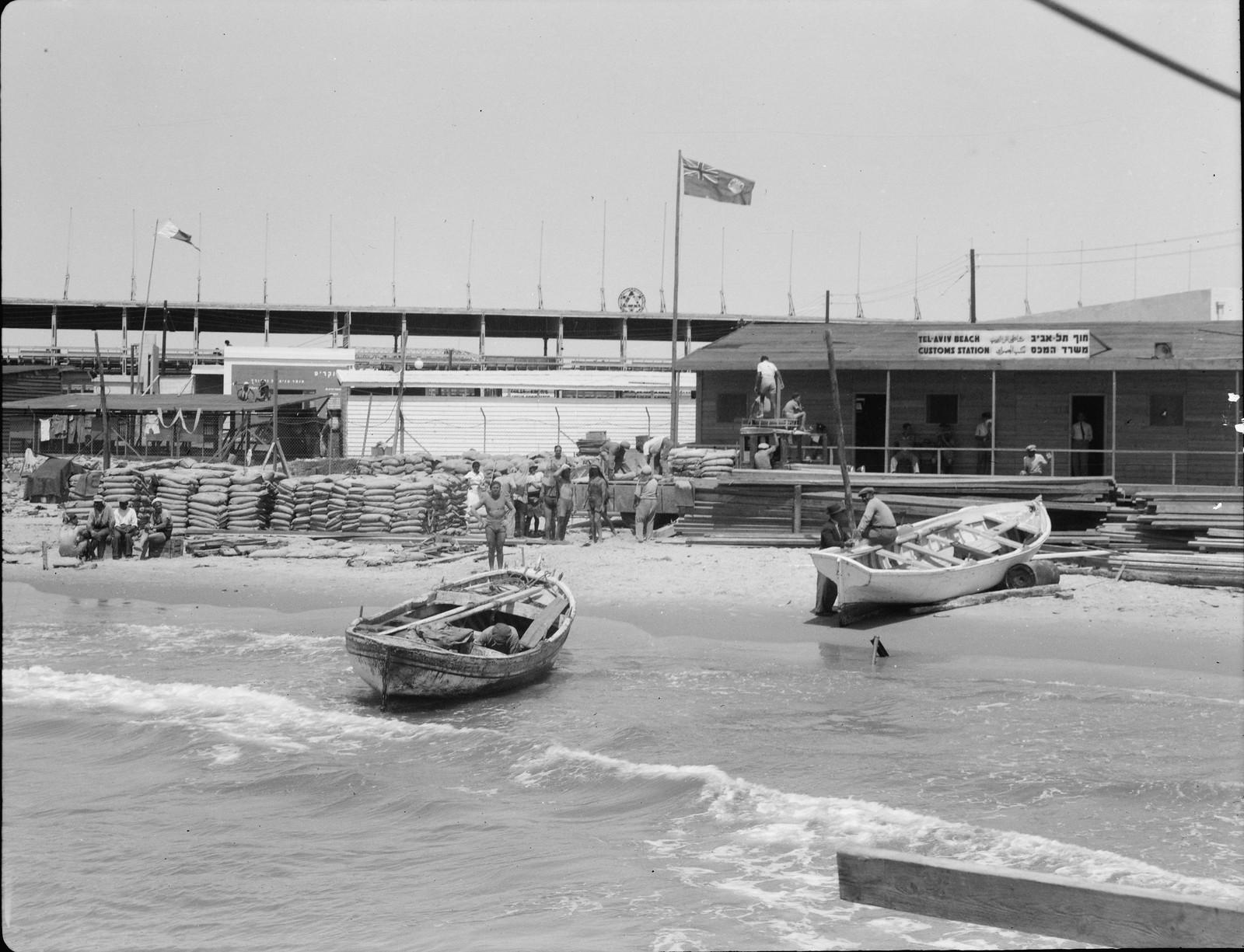 Тель-Авивская таможенная станция на пристани