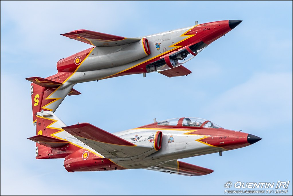 Patrulla Aguila Ejercito del Aire Meeting de l'Air BA-115 Orange 2019 Canon Sigma France contemporary lens Meeting Aerien
