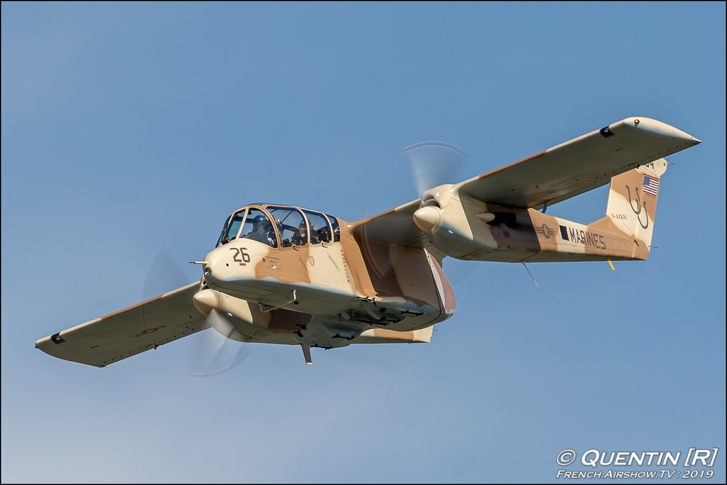 Bronco OV-10 - Musee Europeen de l'Aviation de Chasse Meeting de l'Air BA-115 Orange 2019 Canon Sigma France contemporary lens Meeting Aerien
