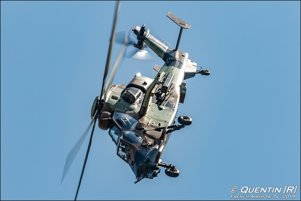 Eurocopter EC665 Tigre Hélicoptère de combat et de lutte Meeting de l'Air BA-115 Orange 2019 Canon Sigma France contemporary lens Meeting Aerien