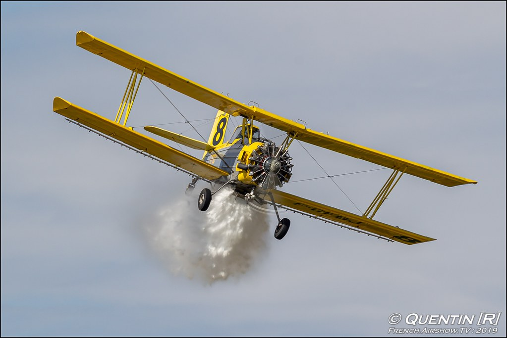 Grumman G-164 A Ag-Cat Midair F-GFBJ Meeting de l'Air BA-115 Orange 2019 Canon Sigma France contemporary lens Meeting Aerien